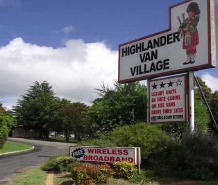 Highlander Van Village - Accommodation Tasmania
