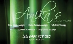 Anikas Massage Therapy - Accommodation Tasmania