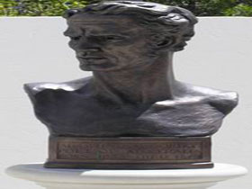Adam Lindsay Gordon Bronze Bust - Accommodation Tasmania