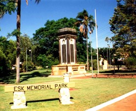 Esk War Memorial and Esk Memorial Park - Accommodation Tasmania