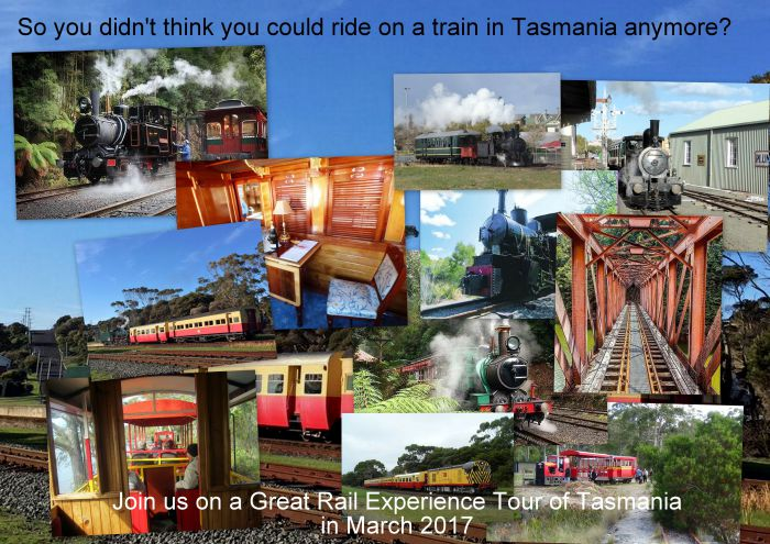 Great Rail Experiences  Tasmania Tour 2017 - Accommodation Tasmania