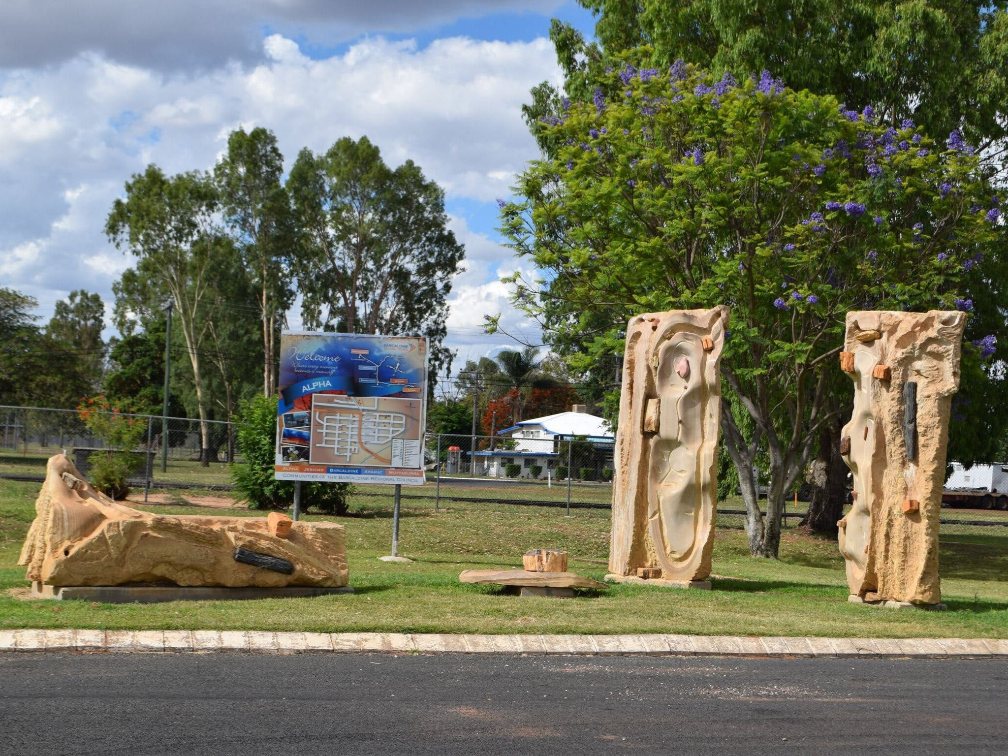 The Fossilised Forest Sculpture - Accommodation Tasmania