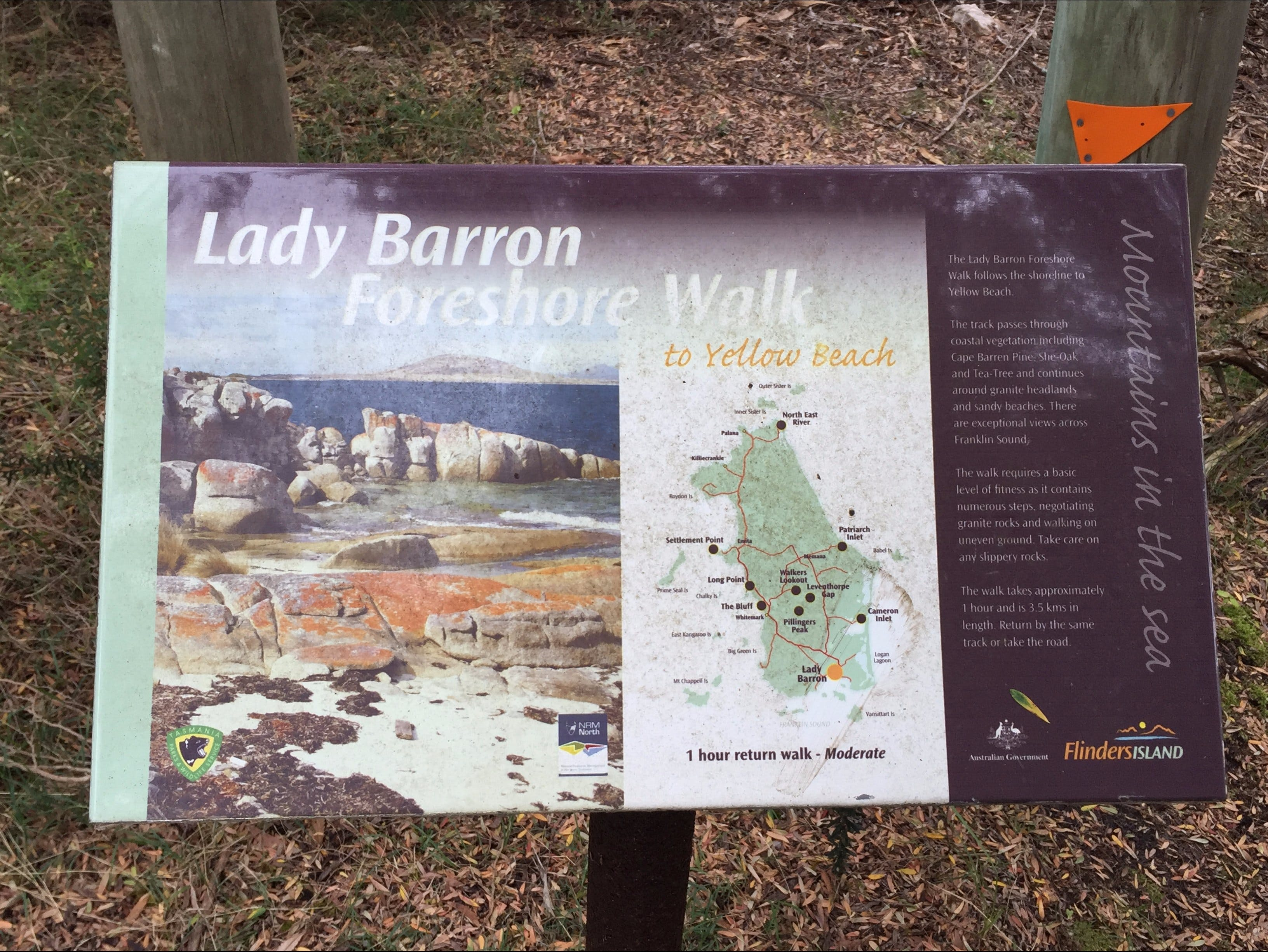 The Lady Barron Foreshore Walk - Accommodation Tasmania