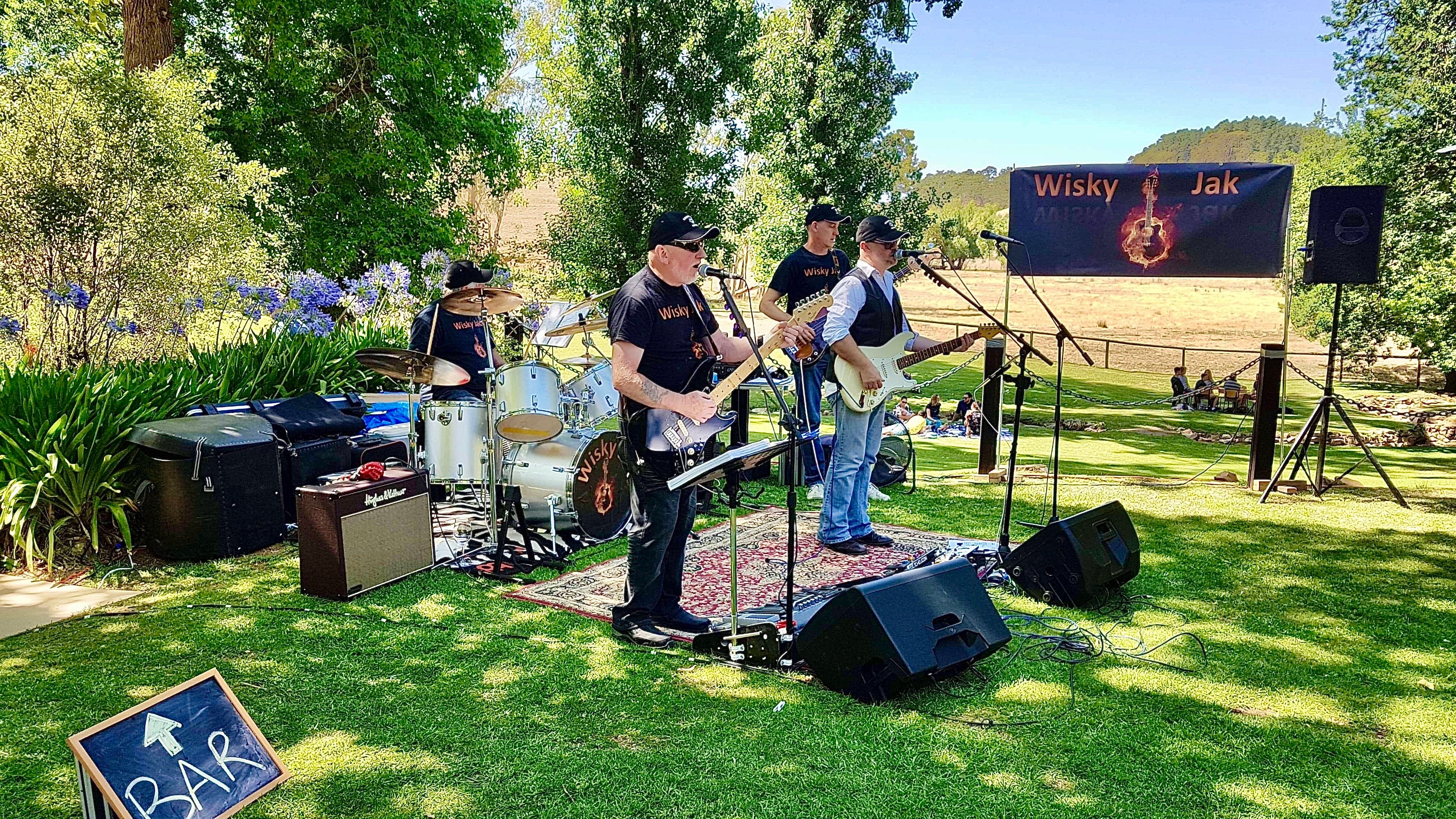 Angas Plains Wines Live in the Vines with the band -Wisky Jak - Accommodation Tasmania