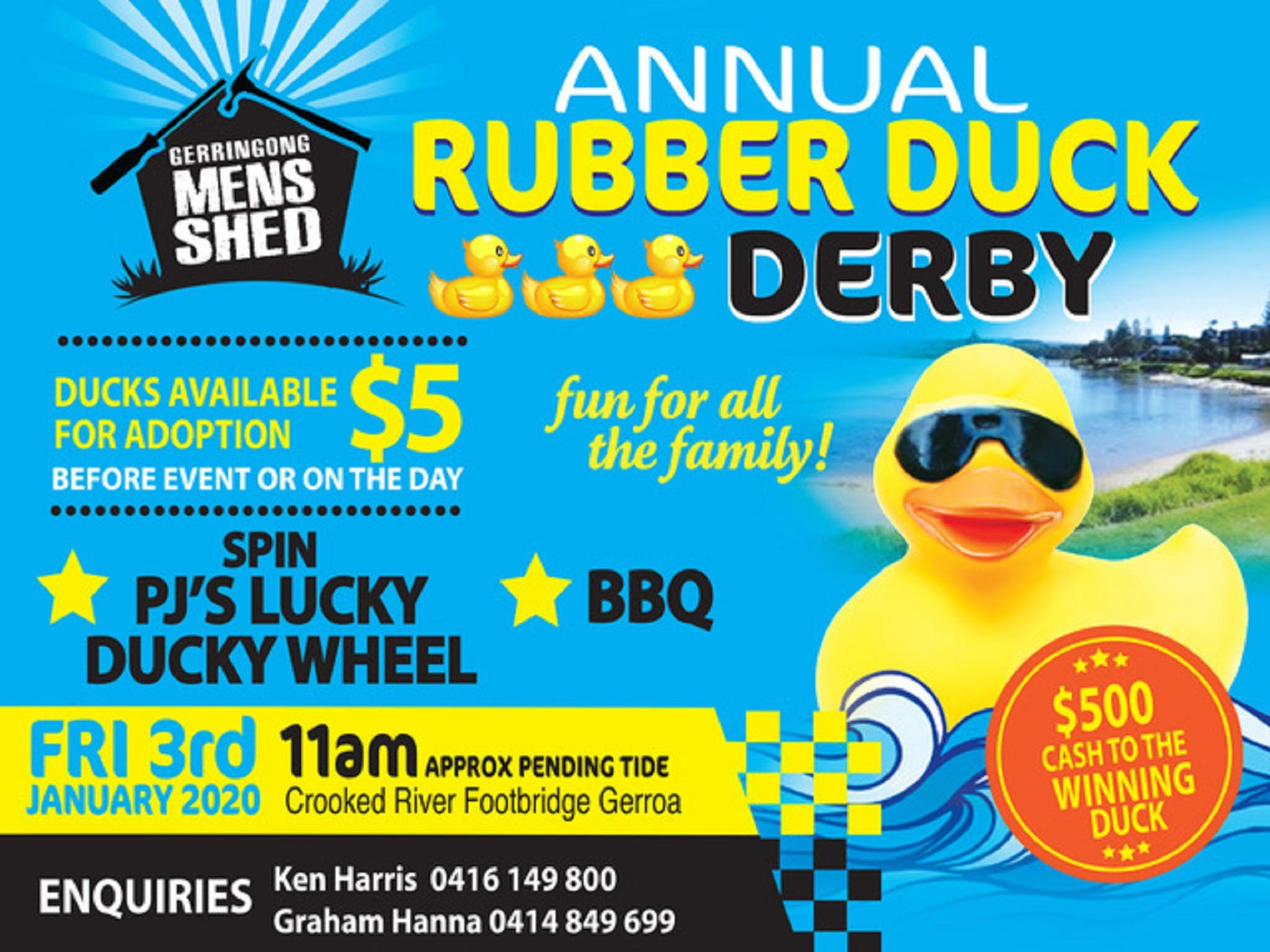 Gerringong Mens Shed Annual Duck Derby - Accommodation Tasmania