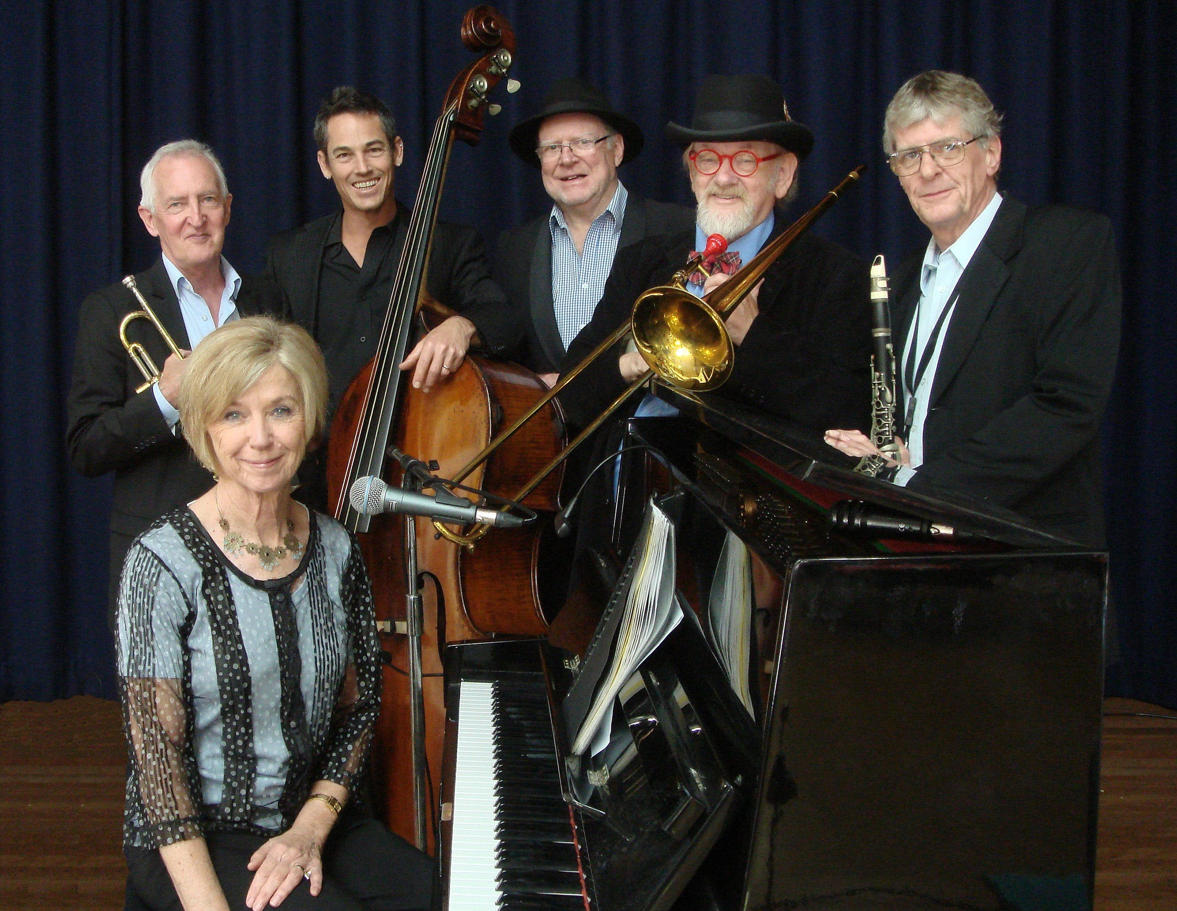 The Caxton Street Jazz Band in the Swigmore Hall at Robert Channon Wines - Accommodation Tasmania